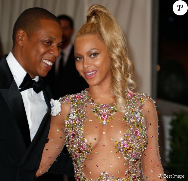Beyoncé Knowles et son mari Jay-Z - Soirée Met Ball au Metropolitan Museum à New York, le 4 mai 2015.
