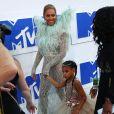 Beyonce knowles et sa fille Blue Ivy Carter aux MTV Video Music Awards 2016 à New York, le 28 août 2016