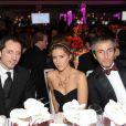 Gad Elmaleh, Vahina Giocante et le milliardaire russe Umar à la soirée des 10 ans de l'association Innocence en danger