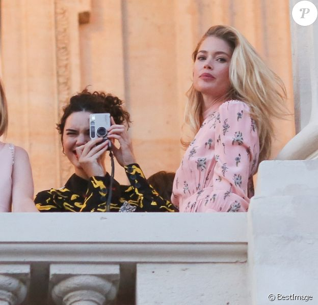 Lauren Santo Domingo, Kendall Jenner et Doutzen Kroes - After-Party Miu Miu (post-défilé croisière 2018) à l'Automobile Club à Paris, le 02 juillet 2017. © CVS-Veeren/Bestimage