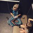Pink et sa fille Willow coincées dans l'ascenseur avant le Summerfest dans le Wisconsin - Photo publiée sur Instagram le 3 juillet 2017
