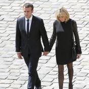Emmanuel et Brigitte Macron main dans la main et unis pour Simone Veil