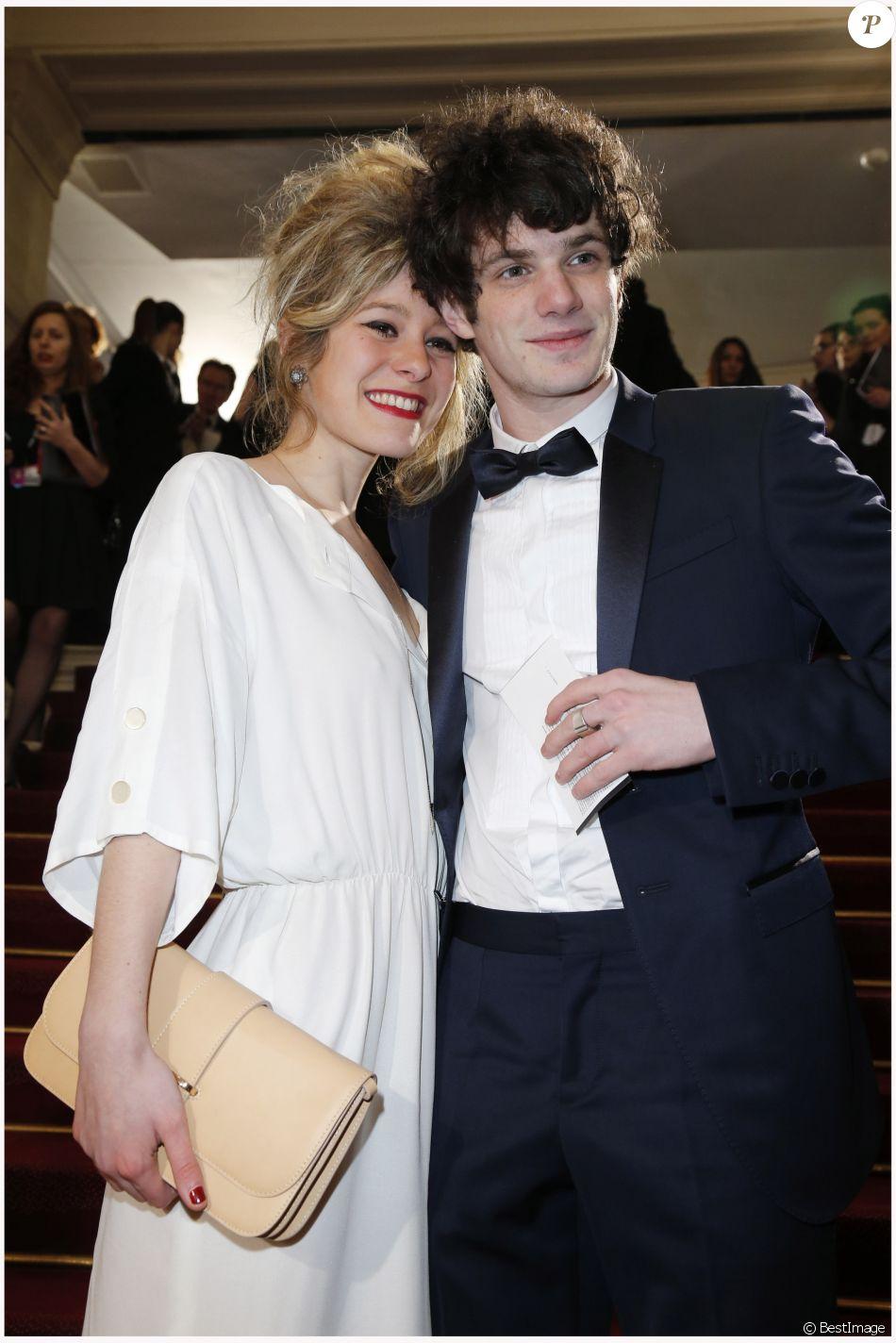 Felix Moati et sa petite amie lors des César 2013.
