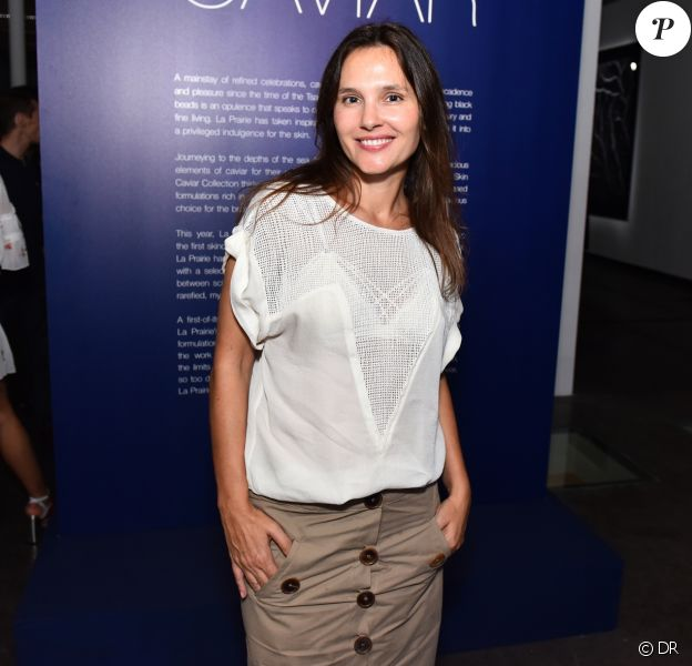 "Virginie Ledoyen - Vernissage de l'exposition ""The Art of Caviar"", célébrant les 30 ans de la collection ""Skin Caviar"" de La Prairie. Paris, le 4 juillet 2017."
