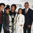 Will, Jada Pinkett Smith et leurs enfants Willow, Jaden et Trey Smith - Célébrités arrivant au 26ème EMA Awards au studio de la Warner à Burbank le 22 octobre 2016.