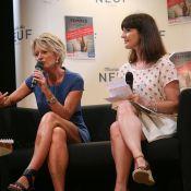 Sophie Davant et Caroline Ithurbide, intervenantes enjouées d'un forum parisien