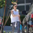 Minka Kelly quitte son cours de gym à Los Angeles le 5 avril 2017.