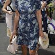 Carole Middleton au tournoi de Wimbledon le 10 juillet 2017. Elle aurait demandé à Mirka Federer, épouse de Roger, des places en rab pour le court central, où sa fille Pippa est arrivée plus tard.