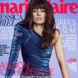 """Jessica Biel en couverture de l'édition américaine du """"Marie Claire"""", édition du mois d'août 2017."""