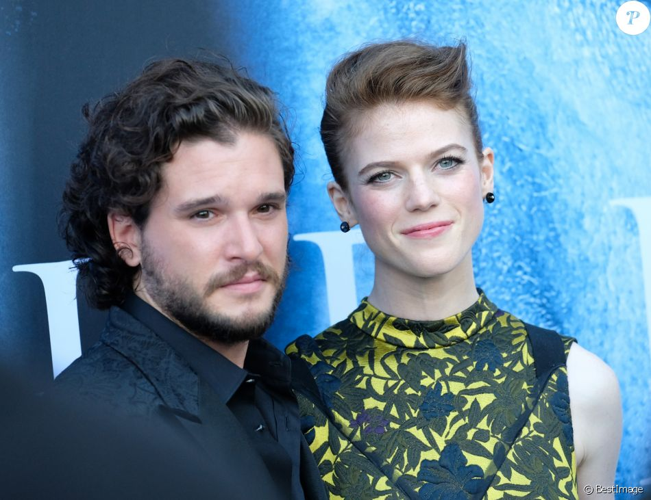 Rose Leslie et son compagnon Kit Harington à la première de la saison 7 de 'Game of Thrones' au Disney Concert Hall à Los Angeles, le 12 juillet 2017 © Chris Delmas/Bestimage