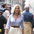Sarah Jessica Parker en plein tournage dans les rues de Times Square, à New York le 11 juillet 2017
