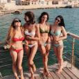 Valérie Bègue en vacances avec des amies. Juillet 2017.