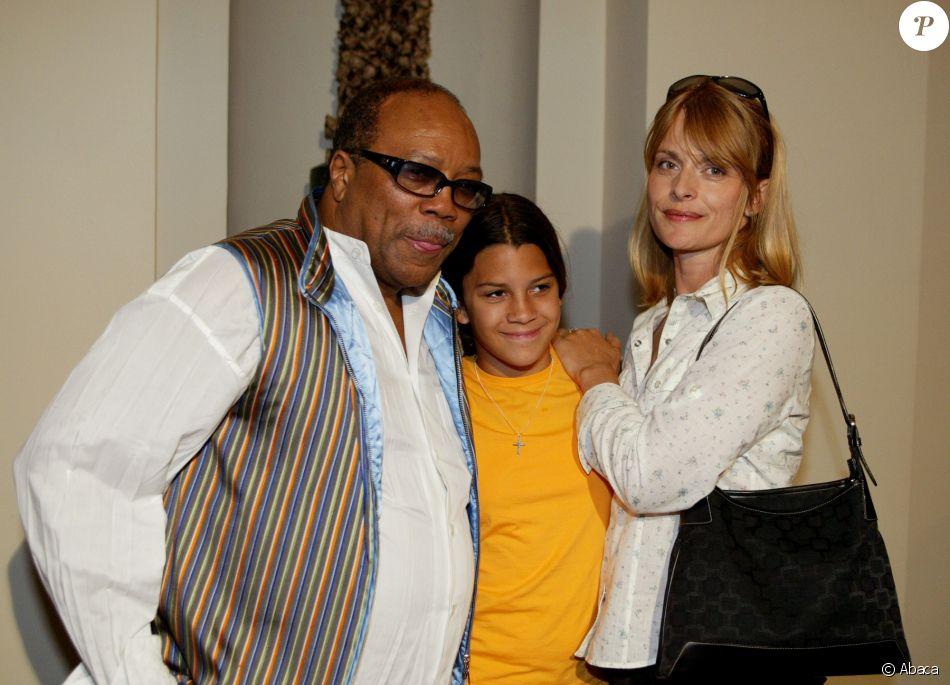 Quincy Jones, Nastassja Kinski et leur fille Kenya à Rome ...