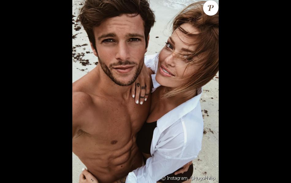 Hugo Philip et Caroline Receveur, le 28 juillet 2017 à l'Île Maurice.