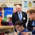 Le prince Harry en visite à l'association Headway, auprès de personnes ayant survécu à de dommages cérébraux, à Ipswich le 20 juillet 2017
