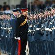 Le prince Harry en visite dans une base de la Royal Air Force le 20 juillet 2017 à Bury St Edmunds.