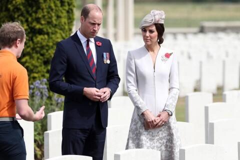 Kate Middleton et le prince William recueillis à la mémoire des disparus à Ypres