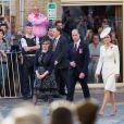 Le prince William, duc de Cambridge, et Kate Middleton, duchesse de Cambridge, ont assisté avec le roi Philippe et la reine Mathilde de Belgique à la cérémonie du Mast Post à la Porte de Menin à Ypres en Belgique le 30 juillet 2017, à la veille du centenaire de la Bataille de Passchendaele.