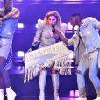 """Lady Gaga en concert au Rogers Arena à Vancouver pour le lancement de sa tournée mondiale """"Joanne World Tour"""". Le 1er août 2017."""