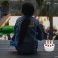 Joy Hallyday sur une photo publiée le jour de ses 9 ans le 27 juillet 2017