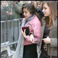 Lourdes et une amie au centre de la Kabbale de New York, le 7/02/09