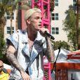 Aaron Carter chante à la fête Flamingo GO Pool à Las Vegas, le 15 avril 2017
