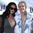 Madison Parker et son petit ami Aaron Carter à la fête Flamingo GO Pool à Las Vegas, le 15 avril 2017