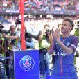 Neymar Jr lors de sa présentation au public au stade du parc des princes à Paris, le 5 août 2017 au lendemain de son arrivée comme nouveau joueur de l'équipe du Paris Saint-Germain (PSG). © Giancarlo Gorassini/Bestimage