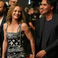 """Vanessa Paradis et son compagnon Samuel Benchetrit arrivent main dans la main lors de la première du film """"Chien"""" au 70e festival du film de """"Locarno"""" le 7 août 2017"""