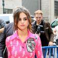 Selena Gomez arrive à la station de radio Z100 à New York City, New York, Etats-Unis, le 5 juin 2017