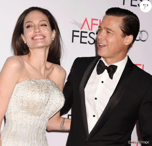 """Angelina Jolie et Brad Pitt - Première de """"By the Sea"""" à Los Angeles le 5 novembre 2015 dans le cadre de l'Audi Opening Night Gala."""