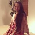 """""""Jessica Michibata, ex-femme de Jenson Button, enceinte de son premier enfant, lors d'un massage prénatal, photo Instagram du 28 juillet 2017."""""""