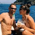 """""""Jenson Button et sa compagne Brittny Ward en vacances sur la Côte amalfitaine en août 2017, photo Instagram."""""""