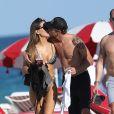 Exclusif - Jenson Button et Brittny Ward en amoureux à Miami le 19 janvier 2017. © CPA/Bestimage