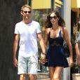 Jenson Button et Brittny Ward à Beverly Hills, le 2 aout 2016