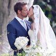 """""""Exclusif - Jenson Button et Jessica Michibata lors de leur mariage à Maui à Hawaï, le 29 décembre 2014. Le couple s'est séparé un an plus tard."""""""