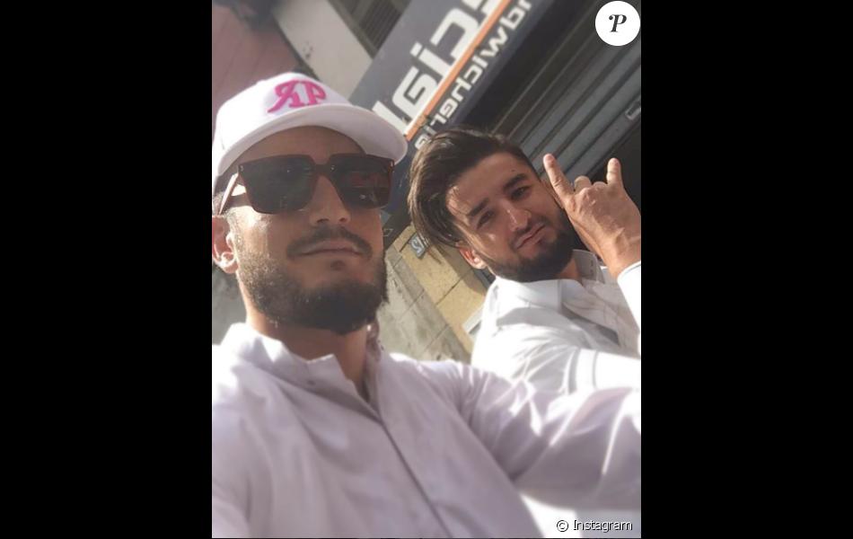 Jonathan Zidane et son petit frère, le 12 août 2017 à Marseille.