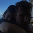 Aurore Aleman et Benjamin Castaldi, le 17 juillet 2017 à San Francisco.