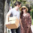 Amy Adams et son mari Darren Le Gallo à la sortie d'un salon de coiffure à West Hollywood, le 20 juin 2017.