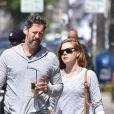 Exclusif - Amy Adams et son mari Darren Le Gallo sont allés acheter un café glacé au Blackwood Coffee Bar à West Hollywood, le 15 mai 2017
