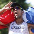 Yohann Diniz champion du monde du 50 km marche aux championnats du monde de Londres le 13 août 2017.