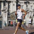 Yohann Diniz lors de l'épreuve du 50 km marche aux championnats du monde de Londres le 13 août 2017.