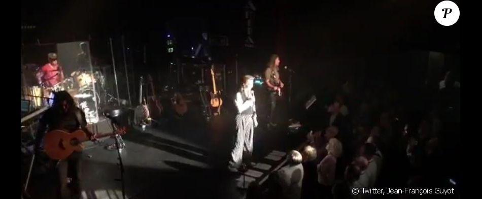 Sheila en concert à l'Alhambra, à Paris, le 16 août 2017