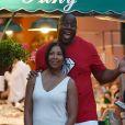 Magic Johnson et sa femme Earlitha Kelly à Portofino, le 6 août 2017.