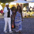 Samuel L. Jackson, sa femme Latanya Richardson et leur fille Zoe Jackson profitant de leurs vacances en famille à Portofino, le 6 août 2017.