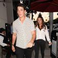 Miles Teller et sa compagne Keleigh Sperry sont allés diner en amoureux au restaurant Craig à West Hollywood, le 21 juillet 2017
