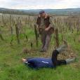 """Françoise, prétendante de Jean-Marc, se blesse à l'oeil chez lui. """"L'amour est dans le pré 2017"""", le 5 septembre 2017 sur M6."""