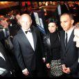 Ron Dennis, Rachida Dati, Lewis Hamilton et Alain Prost à la 24ème édition du Festival Automobile International. 10/02/09