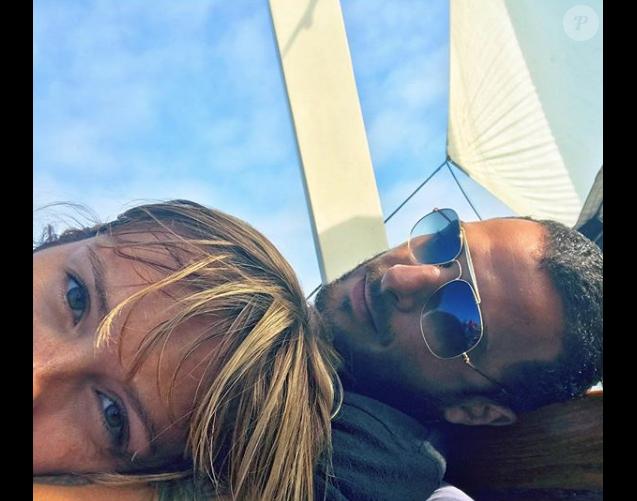 Maxim Nucci et Isabelle Ithurburu en vacances en Californie.