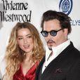 "Johnny Depp et son ex-femme Amber Heard - 9e Gala Annuel ""The Art Of Elysium"" à Culver City le 9 janvier 2016."